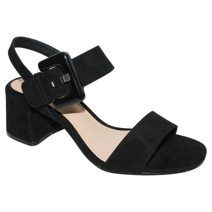 Who What Wear, Women's Anastasia Buckle Strap Sandals  - Black 8.5