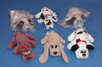Pound Puppies. I have the black and white one on the right AND the dark brown one on the left.