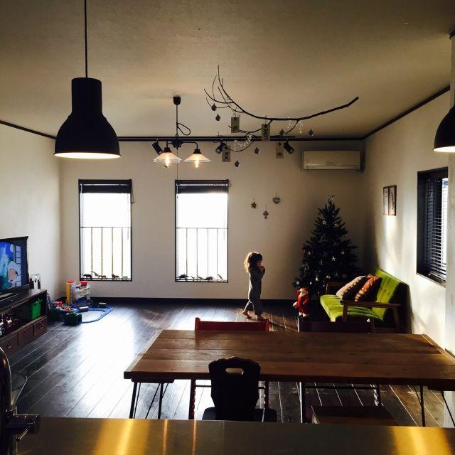 シュライヒ/トミカプラレール/後藤照明/キリムのクッション/カリモク60/クリスマスツリー…などのインテリア実例 - 2014-12-03 08:52:30 | RoomClip(ルームクリップ)