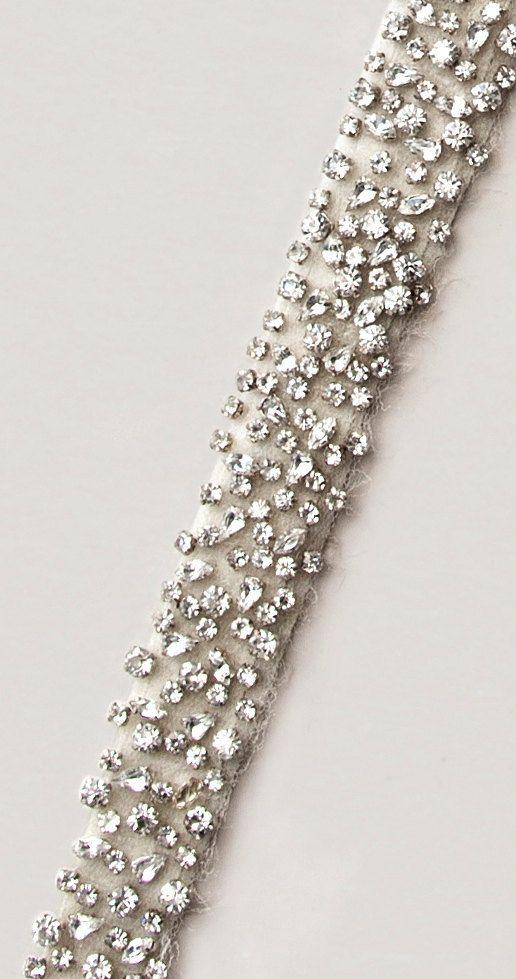 SIRI- crystal sash, rhinestone sash, wedding sash, bridal belt via Etsy
