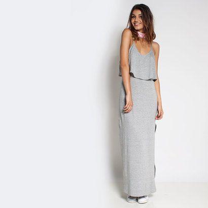 Vestido longo basico de malha