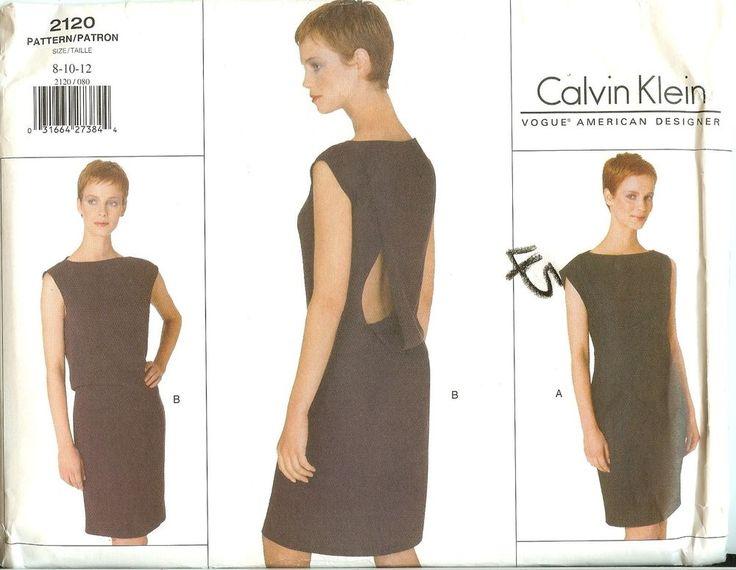 8 best Designer Sewing pattern images on Pinterest   Calvin klein ...