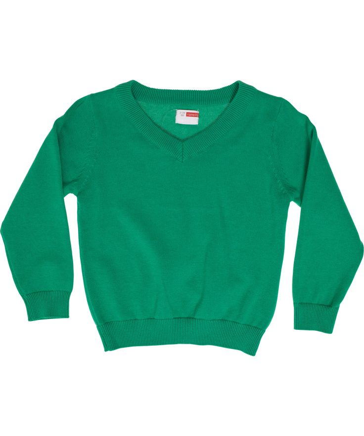 Name It basis groene trui met V-hals. name-it.nl.emilea.be
