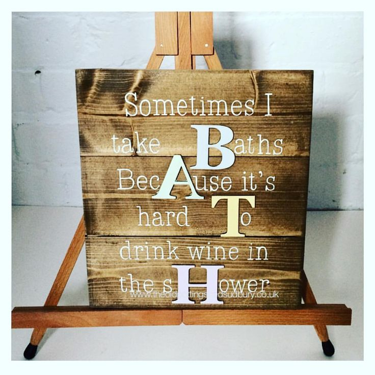 What do you think to this rustic wooden sign? I love it  #rustic #rusticwood #rusticsign #rusticchic #bath #bathroom #bathroomdecor #wordart #handlettering #theoldpottingshedsudbury