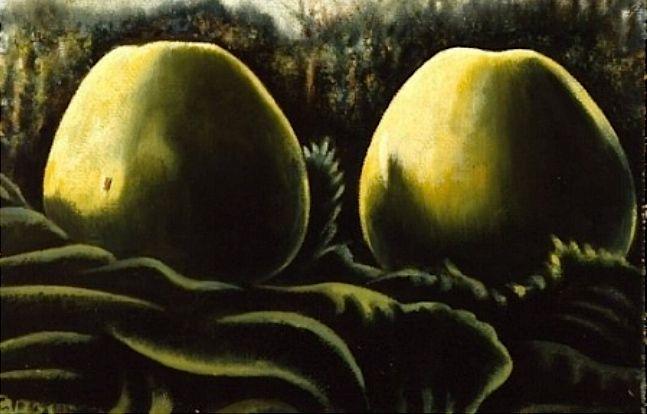 1939 twee appels in bladeren
