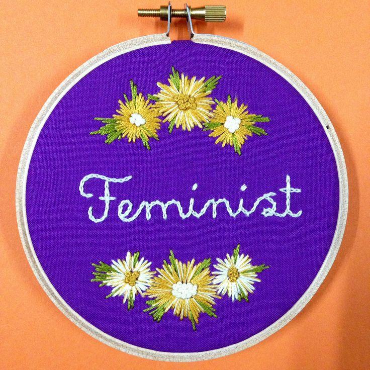 Feminist Embroidery Hoop  https://www.etsy.com/au/listing/540960595/handmade-embroidery-hoop-art-feminist