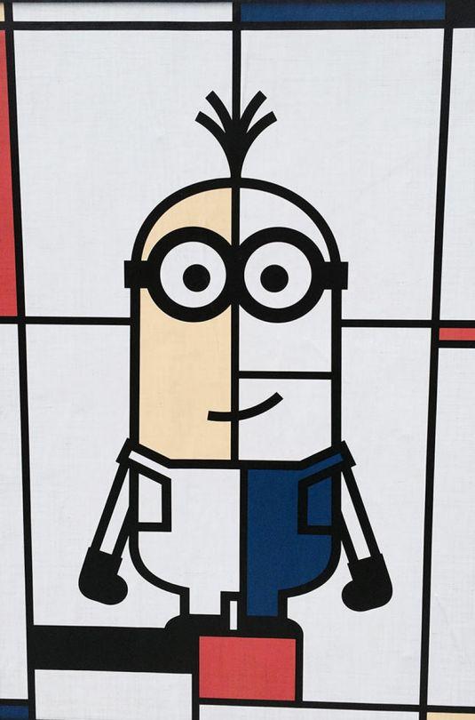 A modern minion Mondrian mashup.