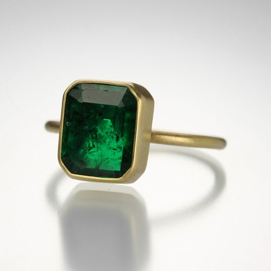 Large Rectangular Emerald Ring,Gabriella Kiss