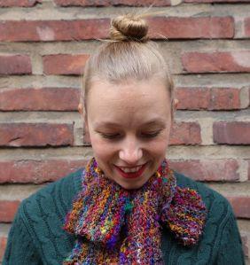 Sari silk scarf by Pipo& mitten ~ Pipo&mitten kaulaliina sarisilkistä
