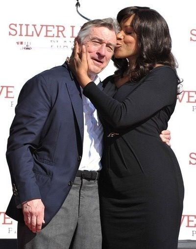 Robert De Niro and his wife Grace Hightower De Niro. 20+ years and still so in love.