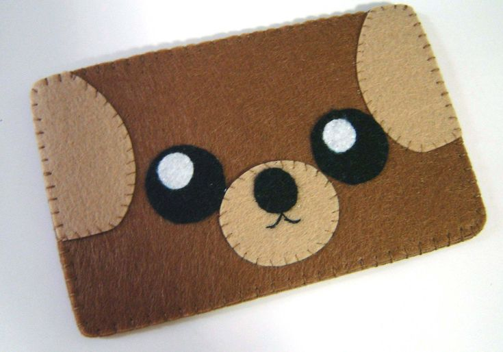 """iPhone Case - Cell Phone Case - iPhone 4 Case - iPod Case - iPod Touch Case - Handmade iPhone Felt Case - """" Brown Dog """" Design. $16.00, via Etsy."""