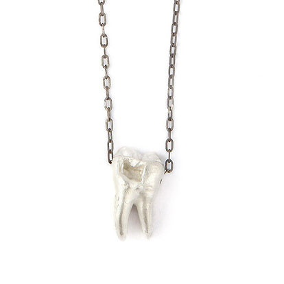 Tooth Necklace Silver