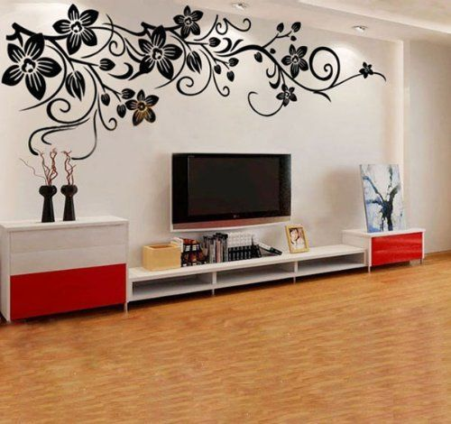 Fuloon Large Vine Flower Wall stickers / Wall decal--200*60cm Black by Fuloon. $29.99. Amazing Design. No glue or painting needed!! Get instant change!!. Size:200*60CM. High quality sheets are used. colour:black. Product Description:  This deco sticker is easy to apply and cost effective to change room feeling. No  need glue or painting. Easy to remove after, without leaving a residue. Perfect  on show window or wall or any smooth surface. please see the photos for size &  c...