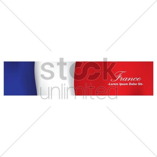 france banner Stock Vector
