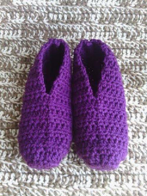 Women's Quick and Easy Slipper Socks | EyeLoveKnots ...