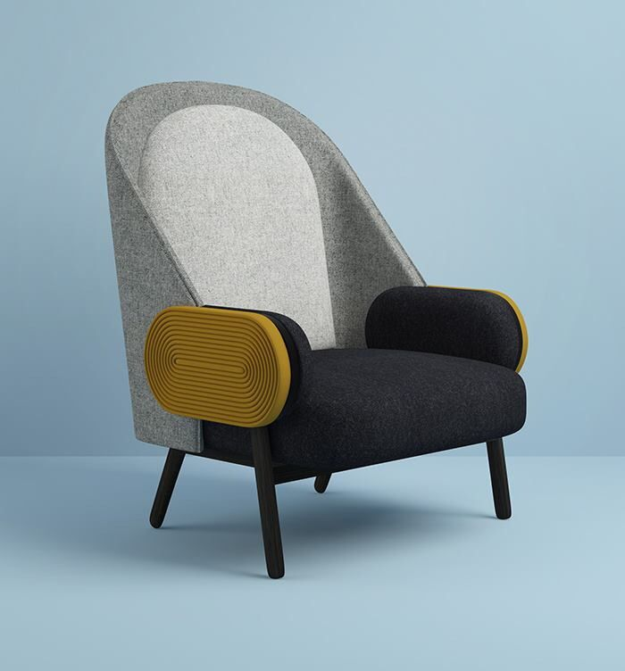 Moon armchair - Charles Kalpakian                                                                                                                                                                                 Plus