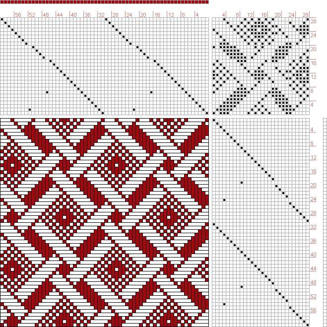 Hand Weaving Draft: Figure 603, A Handbook of Weaves by G. H. Oelsner, 28S, 28T - Handweaving.net Hand Weaving and Draft Archive