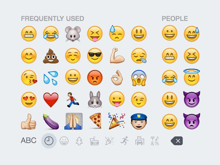 iOS 8 Emoji Keyboard Free Sketch App Resources