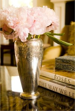 Couture Living Room: Antique Silver and pink