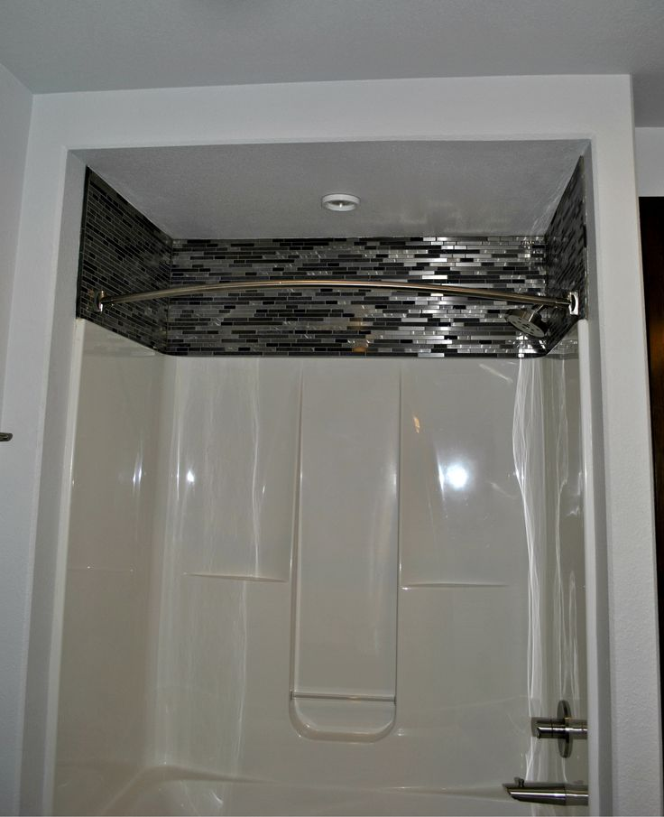 A Pre Fab Shower Can Be Made To Look New And Dressed Up By