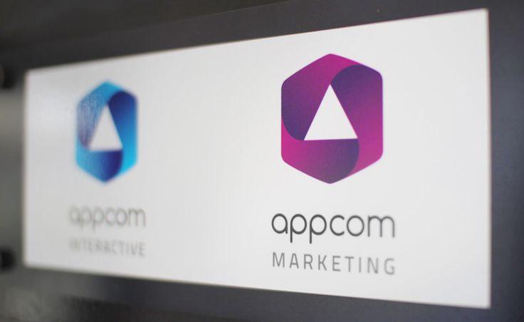 appcom marketing & interactive   office branding design   building sign   logo   duesseldorf