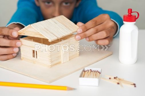 Royalty-Free Images: I'm Building A Matchstick House
