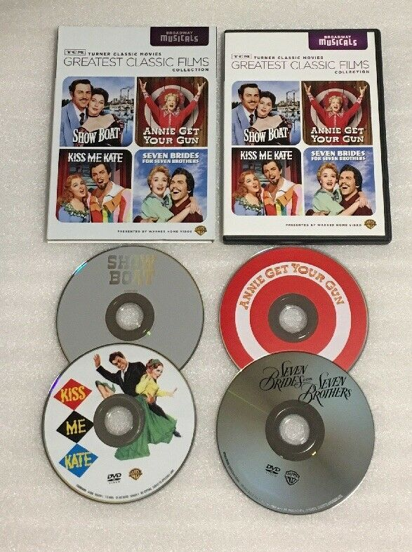 Tcm Greatest Classic Film Dvd 4 Disc Set Show Boat Seven Brides