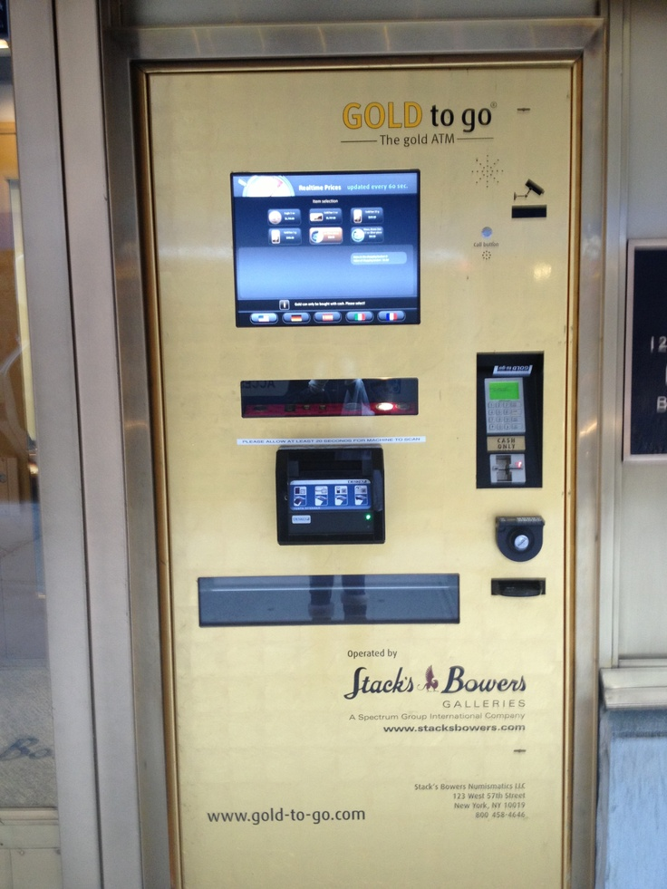 Gold ATM in New York City