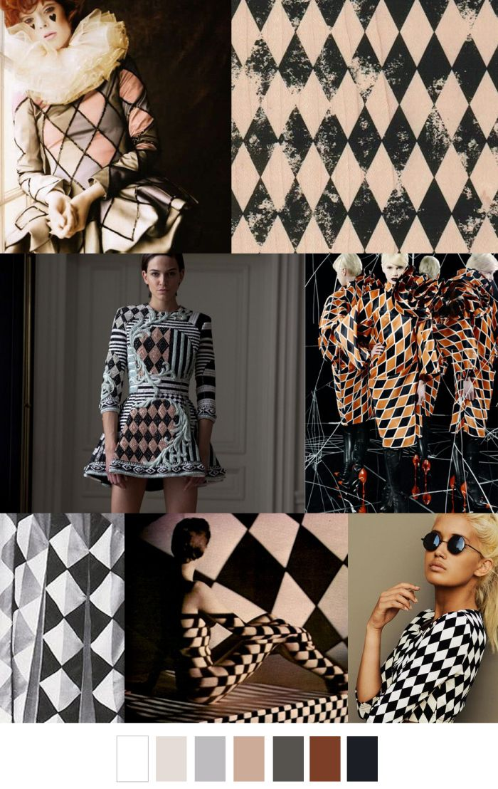 A/W 2016-17 COLORS + PATTERN TREND : Harlequin Haven