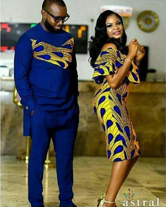 Make a statement with that special man or woman in your life with this beautiful African Native couple set. On request we will make this custom order for you and your loved one. We will be glad to make a custom order couple set for you with any variations of your choice. We