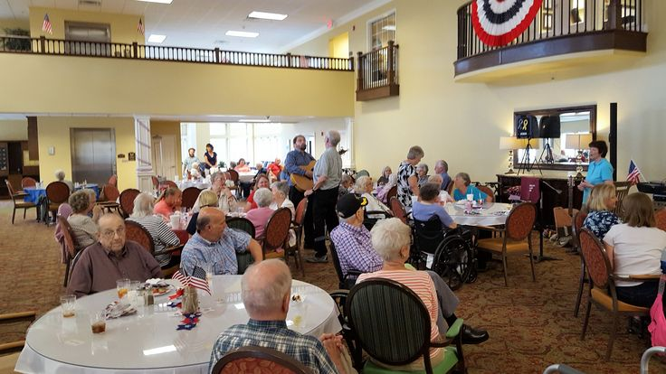 The residents enjoyed learning to round dance and even did the Cha Cha Slide!