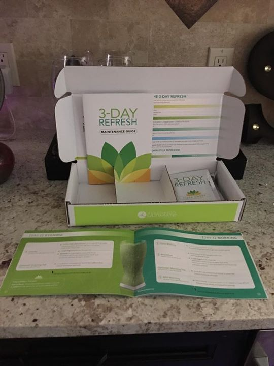 """I'm so proud of my husband Paul. He's on Day 3 of his 3-Day Refresh cleanse and he's been so disciplined to stick to the exact plan    I was putting Himalayan sea salt on his veggies last night and he was yelling at me to stop because it wasn't allowed. I quickly showed him that it was """"on the list""""  - http://ift.tt/1HQJd81"""