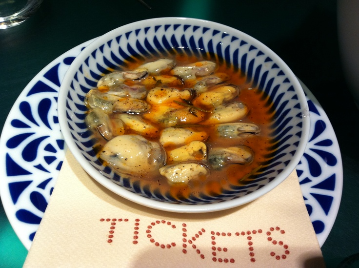 Mussles in natural brine  Tickets Bar, Barcelona