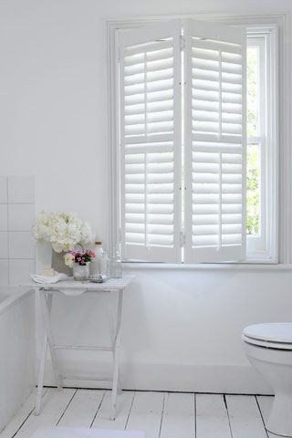You can never go wrong with shutters. Perfect for privacy when you need it and light when you want it.