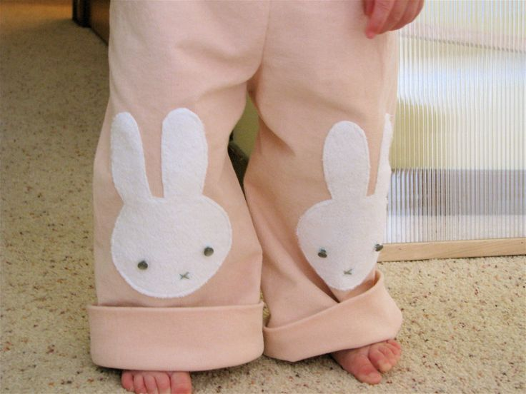 DIY Miffy knee patches  Bunny Pants! (with a little tutorial)