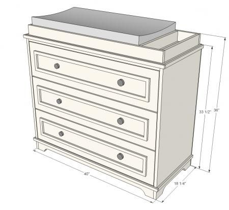 Dyi Dresser  to Changing Table... how to build the top piece.   Might do this vs a normal changing table