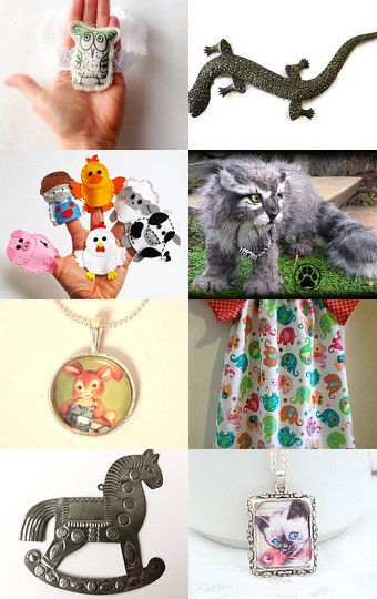 Animal friends... by Fiona Langtry on Etsy--Pinned with TreasuryPin.com