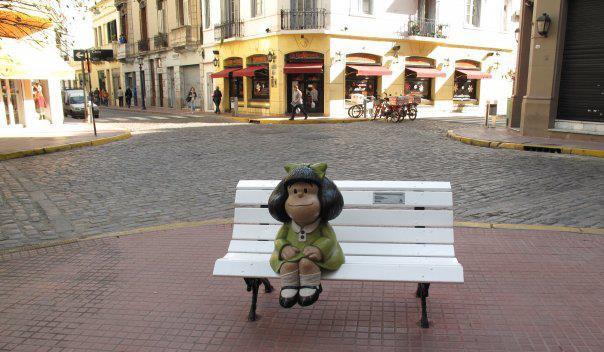 Mafalda en San Telmo, Bs.As.  Norma Ramírez