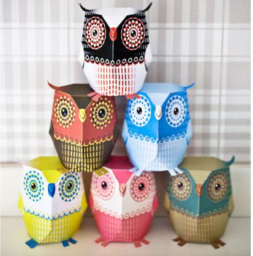 Printable 3D Owl Template - I['m slightly obsessed with owls at the moment. Plenty more free designs from the same website though so don't feel you're restricted to just owls!