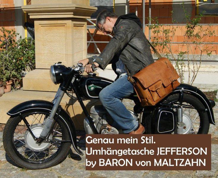 Genau mein Stil.  #Herren #Umhängetasche JEFFERSON aus #Leder. By Baron von Maltzahn