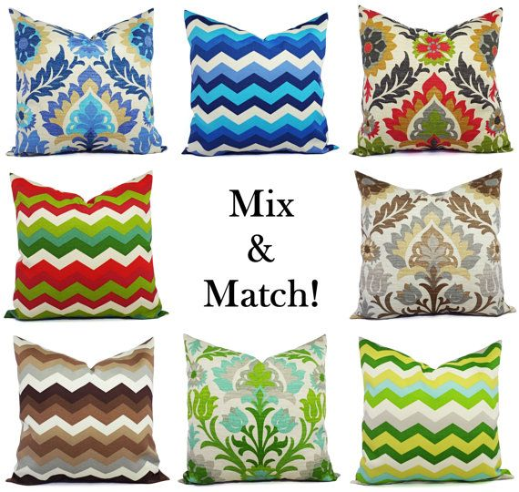 Two Outdoor Pillow Covers  16 x 16 Inch  Blue by CastawayCoveDecor, $28.00