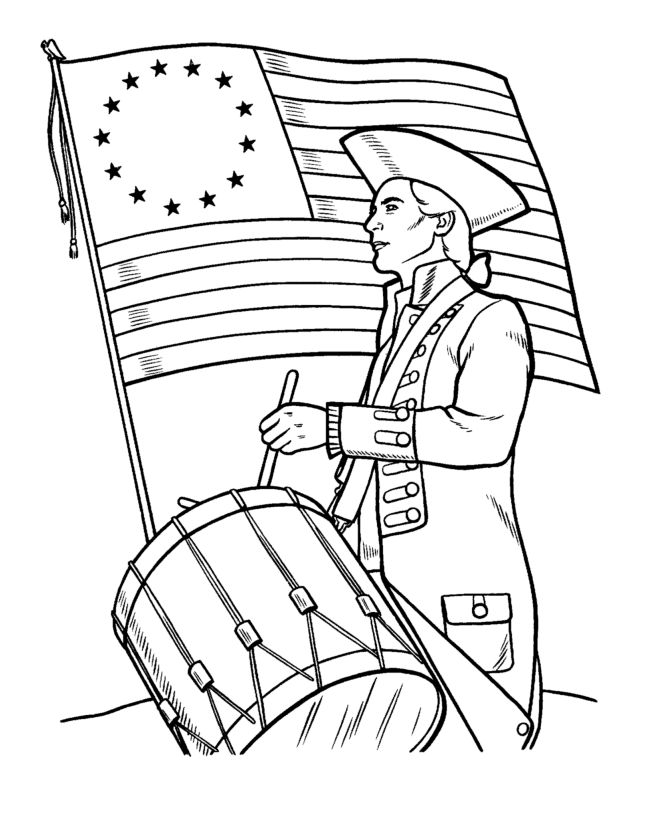 let the kids celebrate independence day with free coloring sheets