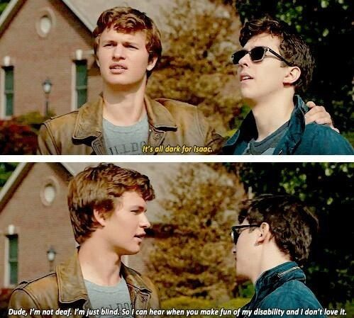 Isaac Gus egging Monica's car. The fault in our stars ...