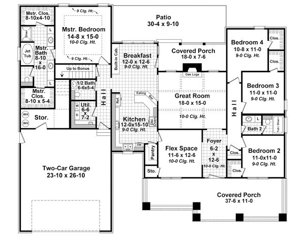 Craftsman House Plan Has Square Feet With 4 Bedrooms, 2 Full Baths, 1 Half  Bath From Ultimate Home Plans. See Floor Plan Features For Plan
