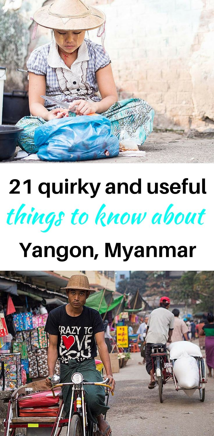 YANGON, Myanmar | Sunsets are stunning. Taxis are cheap. An open umbrella in a park means there's a couple kissing behind it. Read these 21 quirky and useful things to know about Yangon, Myanmar (Burma)!