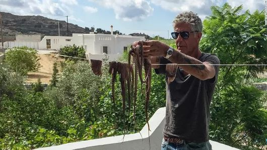 Antony Bourtain, CNN Travel at Naxos island, Greece  #travel