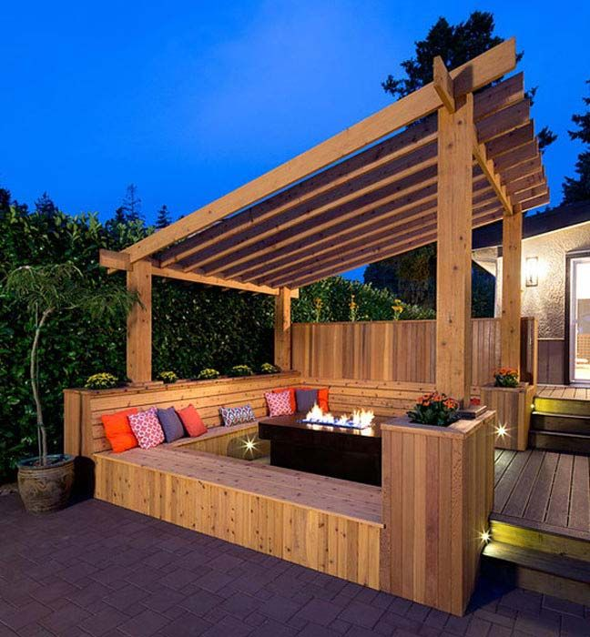 slanted pergola - Google Search