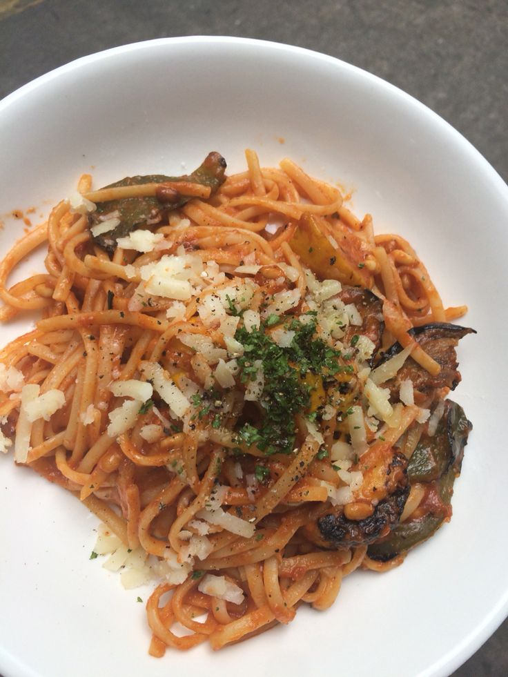 Mixed Grilled Vegetable Pasta
