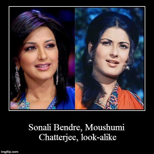 Sonali Bendre, Moushumi Chatterjee, look-alike