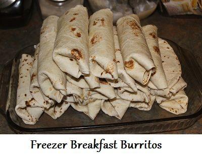 Freezer Breakfast Burritos - great idea for busy mornings